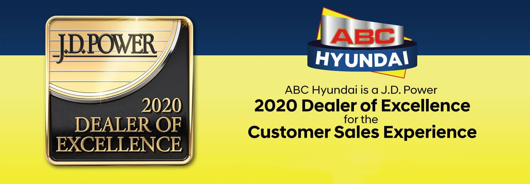 JD Power Program: 2020 Dealer of Excellence