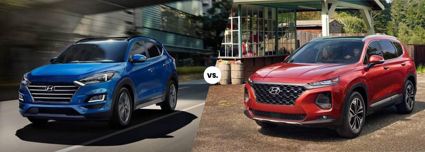 Two Great SUVs - Hyundai Tucson vs. Santa Fe   ABC Hyundai