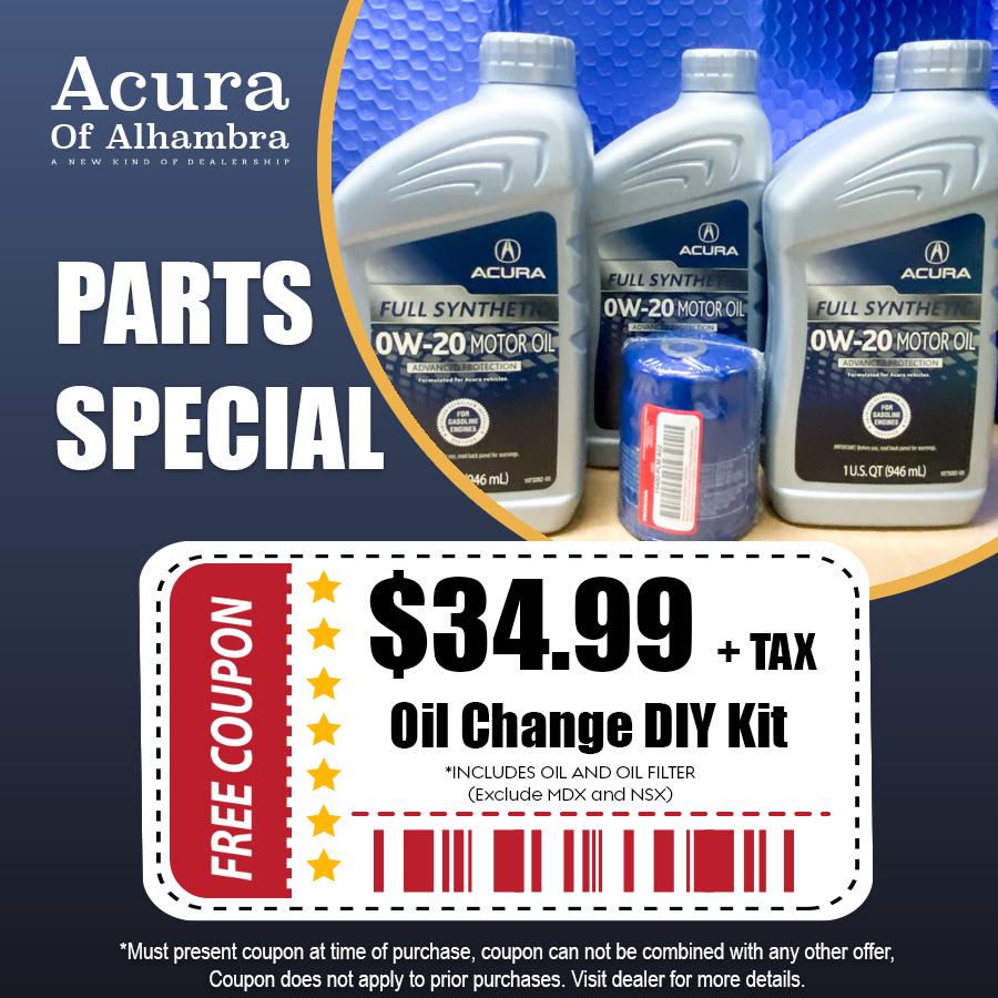 oil change kit offer