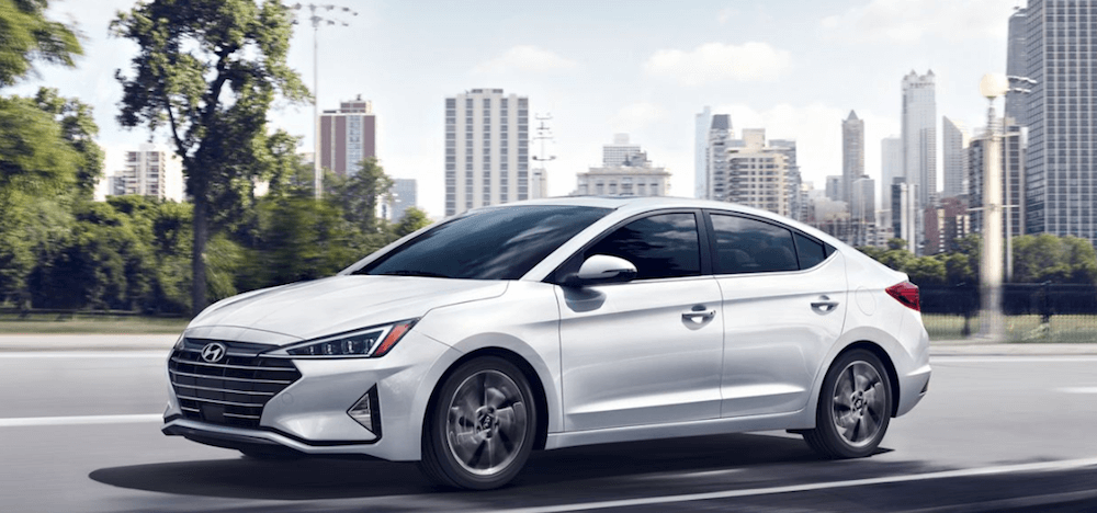 2020 Hyundai Elantra driving in city