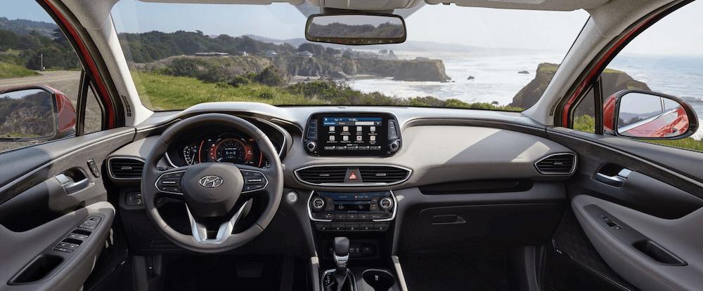 2020 Hyundai Santa Fe Interior front seat and dashboard