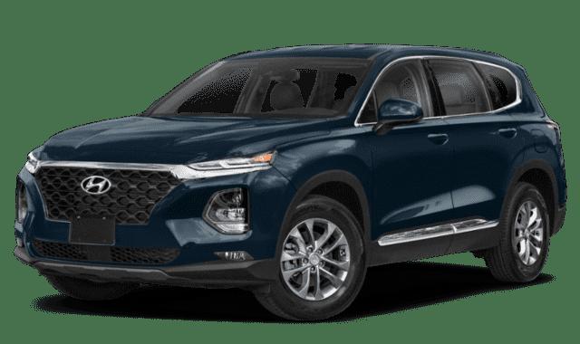 Blue 2020 Hyundai Santa Fe
