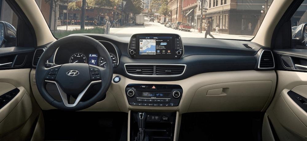 2020 Hyundai Tucson interior dashboard