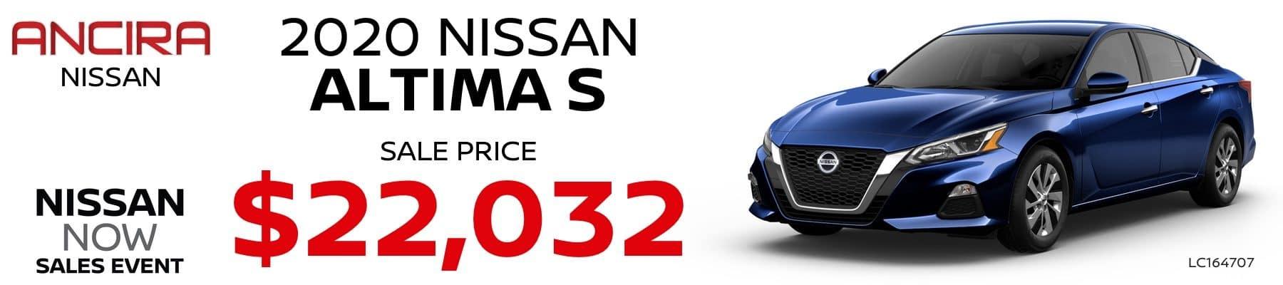 2020 Nissan Altima - Ancira Nissan San Antonio, TX