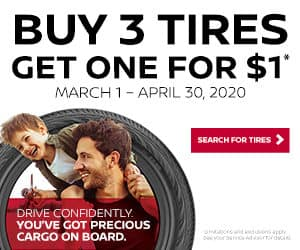 Buy 3 tires, get one for $1 only at Ancira Nissan