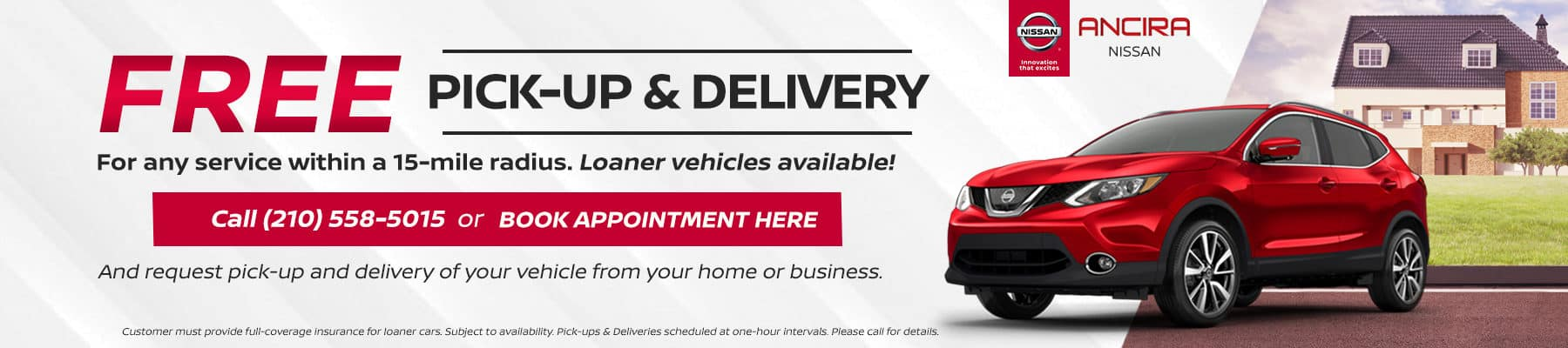 Service Pick-up and Delivery - Ancira Nissan