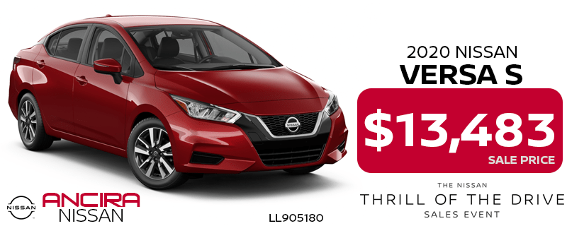 2020 Versa - Thrill of the Drive Sales Event at Ancira Nissan