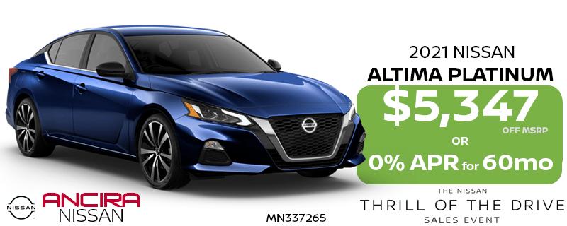 2021 Altima Platinum - Thrill of the Drive Sales Event