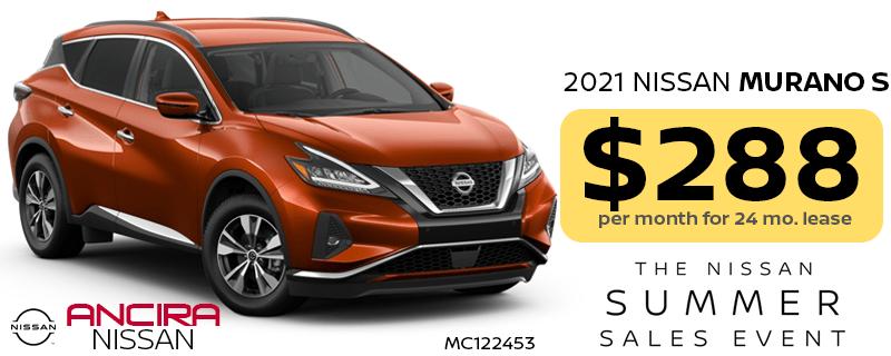 2021 Nissan Murano lease special in San Antonio near Boerne - Ancira Nissan