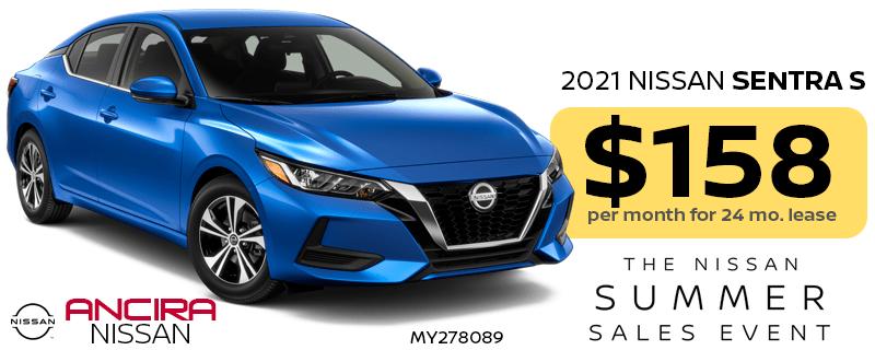 2021 Nissan Sentra lease special in San Antonio near Boerne - Ancira Nissan