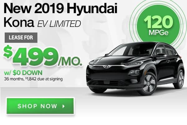 New 2019 Hyundai Kona EV Limited
