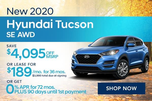 New 2020 Hyundai Tucson SE AWD