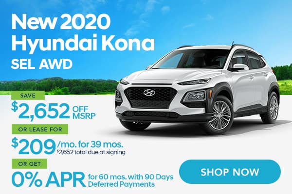 New 2020 Hyundai Kona SEL AWD