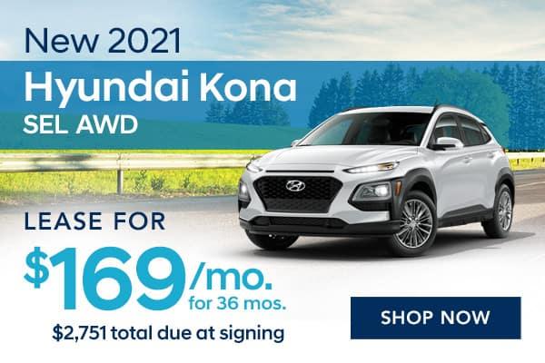 New 2021 Hyundai Kona SEL AWD