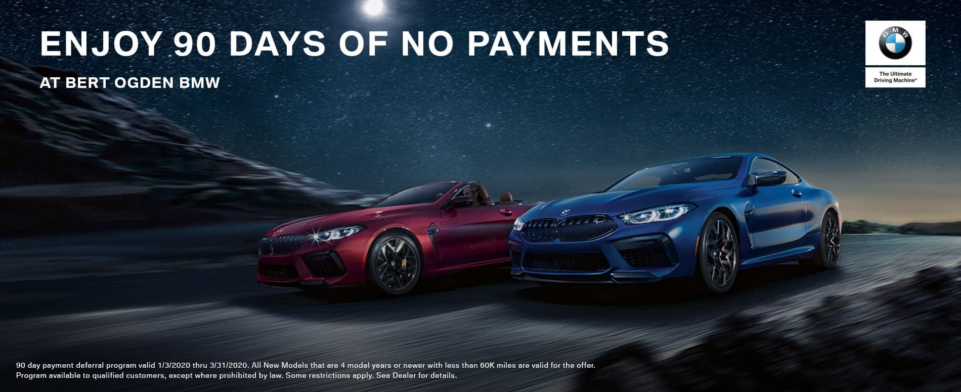 90 Days of No Payments at Bert Ogden BMW in McAllen, TX
