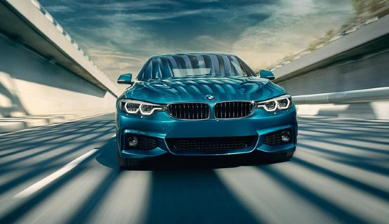 A blue 2019 BMW 4 Series model - Bert Ogden BMW in McAllen, TX
