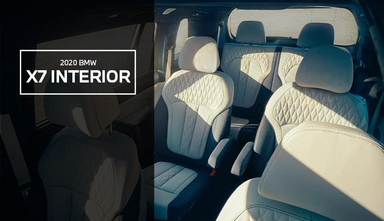 The interior of the 2020 BMW X7 - Bert Ogden BMW in McAllen, TX