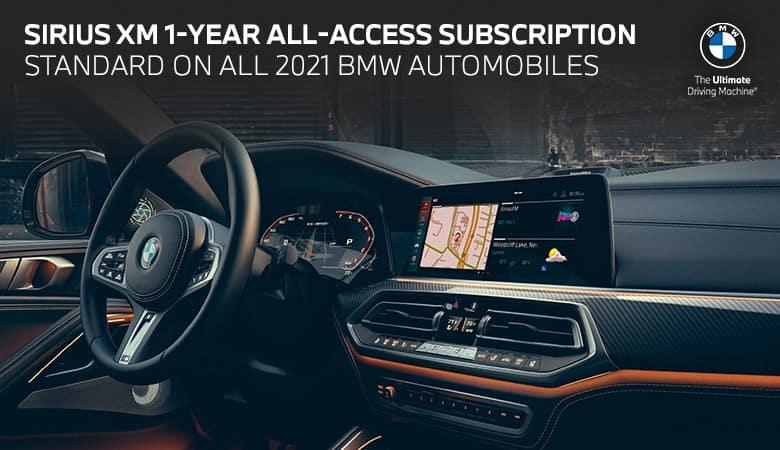 SiriusXM® 1-Year All Access Subscription - Bert Ogden BMW in McAllen, Texas