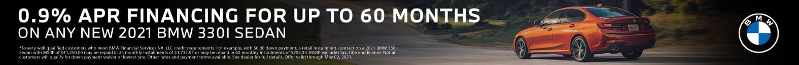 0.9% APR Financing For Up To 60 Months On Any New 2021 BMW 330i Sedan - Bert Ogden BMW in McAllen, Texas