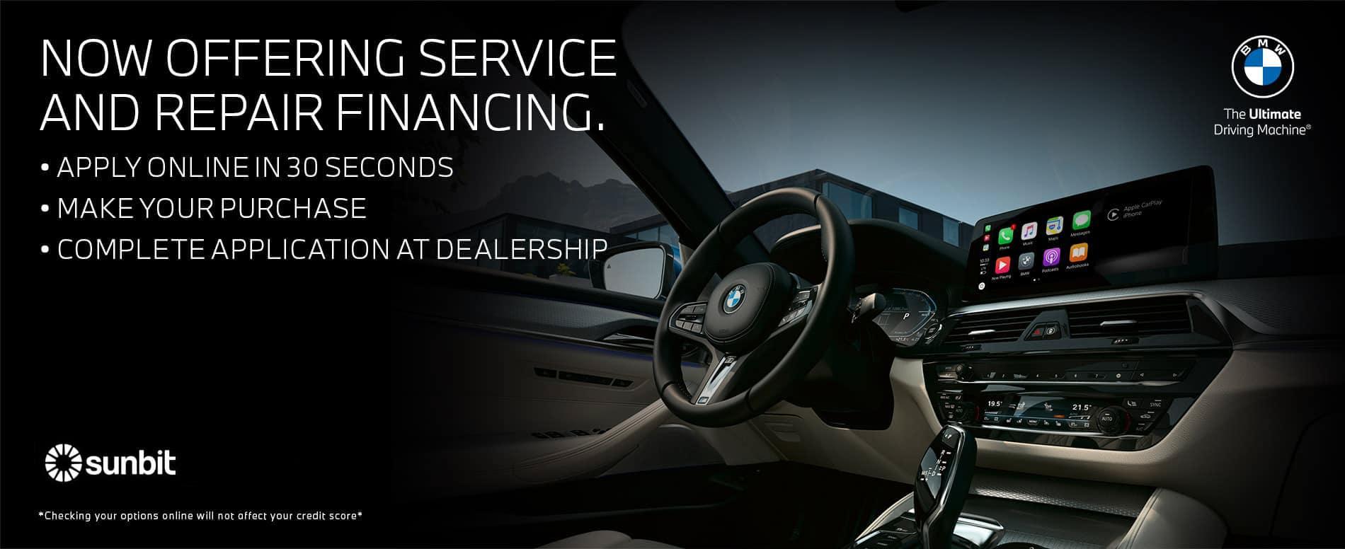 Service & Repair Financing   Bert Ogden BMW in McAllen, Texas