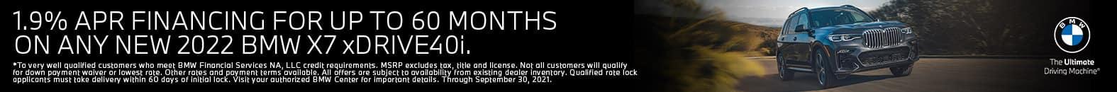 1.9% APR For Up To 60 Months | 2022 BMW X7 xDrive40i | Bert Ogden BMW in McAllen, Texas