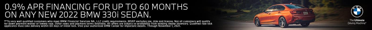 0.9% APR Financing For Up To 60 Months - 2022 BMW 330i Sedan - Bert Ogden BMW in McAllen, Texas