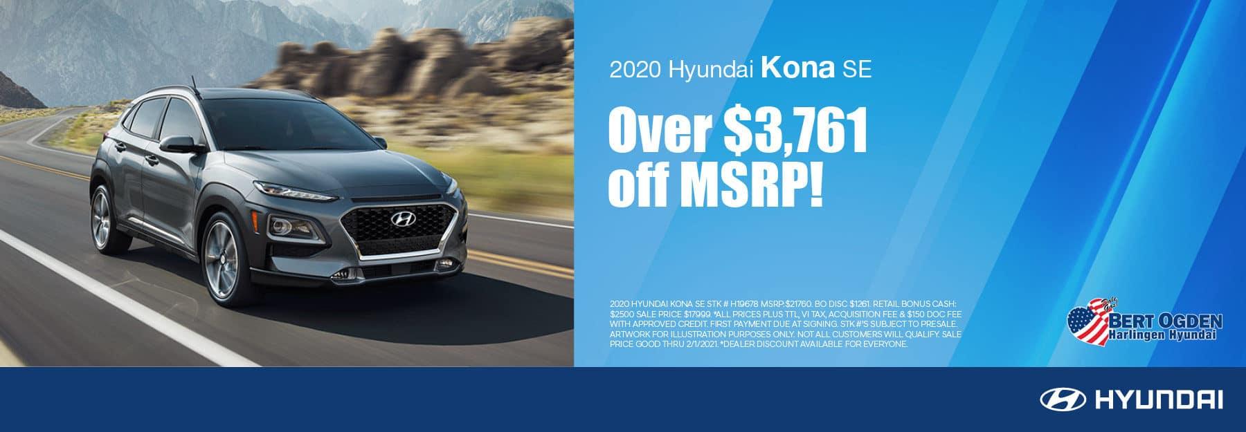 2020 Hyundai Kona | Bert Ogden Hyundai | Harlingen, TX