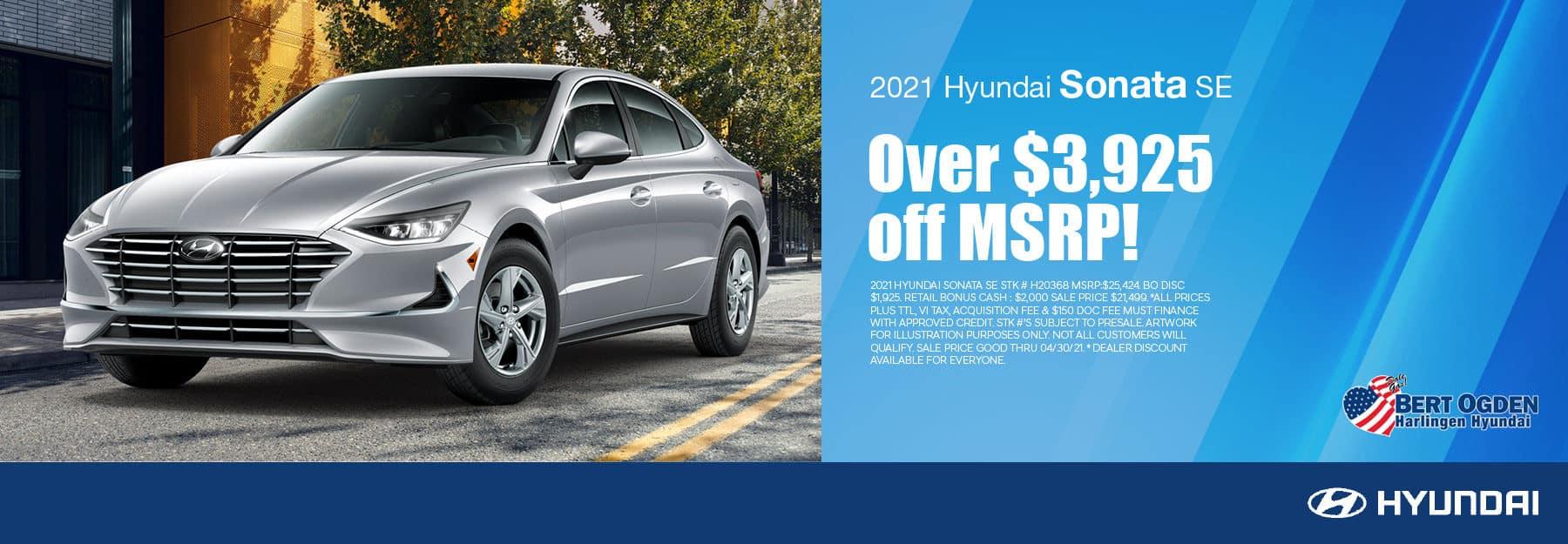 2021 Hyundai Sonata SE Offer - Bert Ogden Harlingen Hyundai in Harlingen, Texas