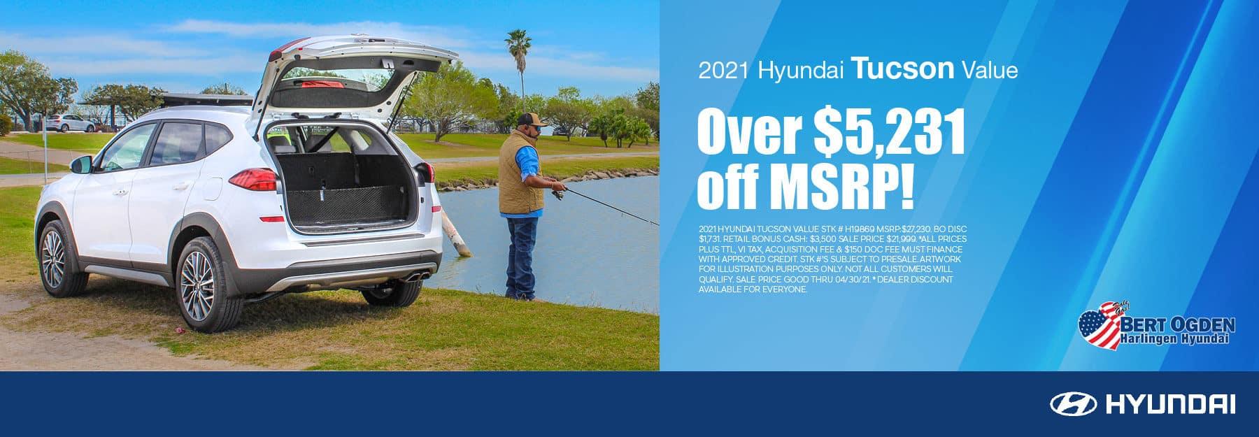 2021 Hyundai Tucson Value Offer - Bert Ogden Harlingen Hyundai in Harlingen, Texas