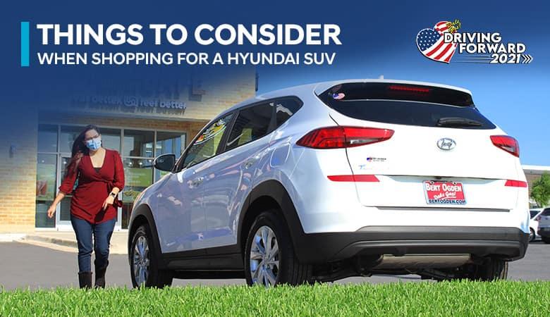 Things to Consider When Shopping for a Hyundai SUV - Bert Ogden Harlingen Hyundai in Harlingen, Texas