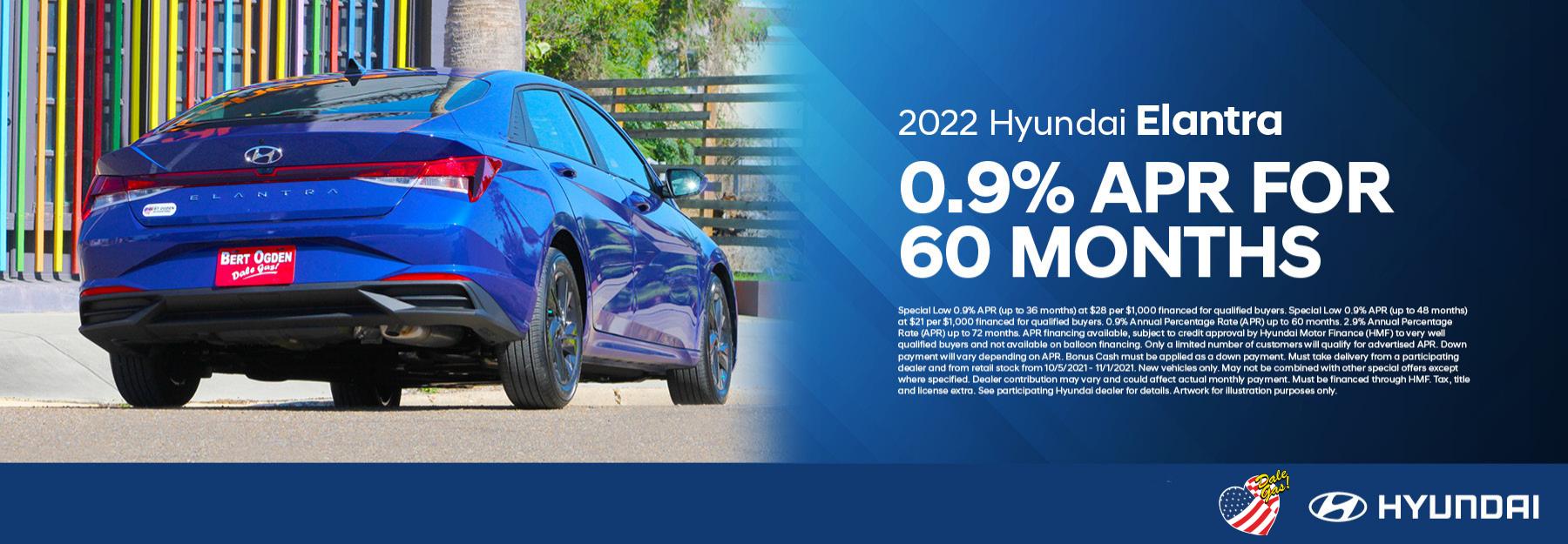 2022 Hyundai Elantra Offer – October 2021