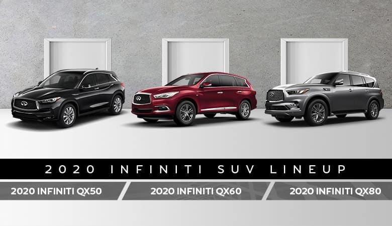 The 2020 INFINITI QX50, 2020 INFINITI QX60, and 2020 INFINITI QX80 - Bert Ogden INFINITI in Edinburg, TX