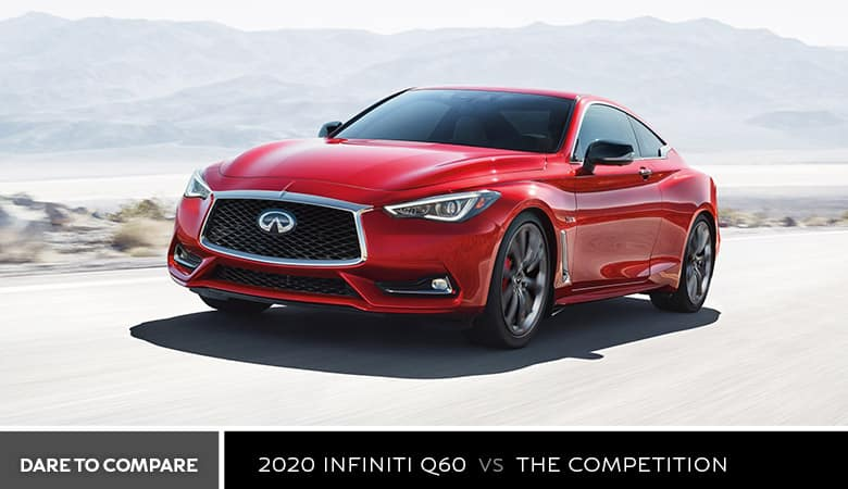 A red 2020 INFINITI Q60 - Bert Ogden INFINITI in Edinburg, TX