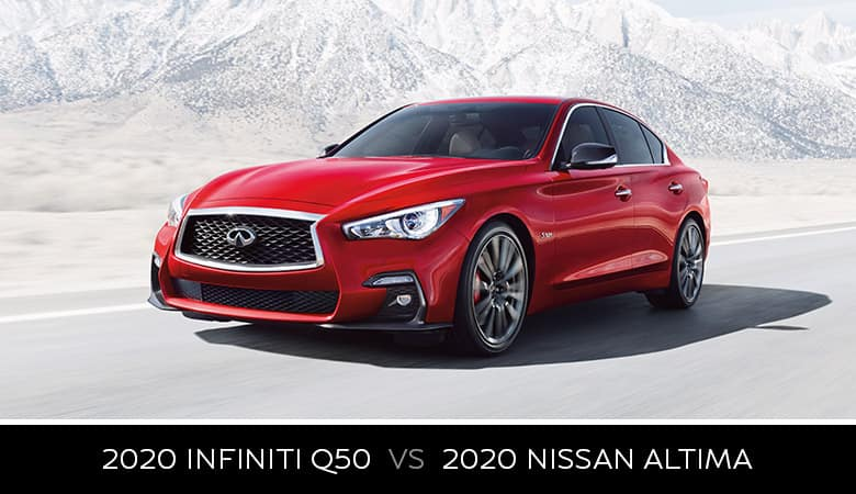 2020 INFINITI Q50 vs. 2020 Nissan Altima - Bert Ogden INFINITI in Edinburg, Texas