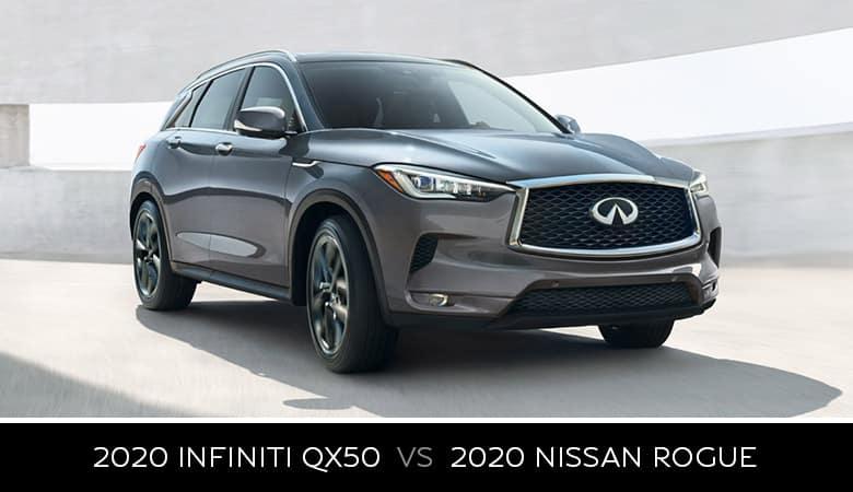 2020 INFINITI QX50 vs. 2020 Nissan Rogue - Bert Ogden INFINITI in Edinburg, Texas