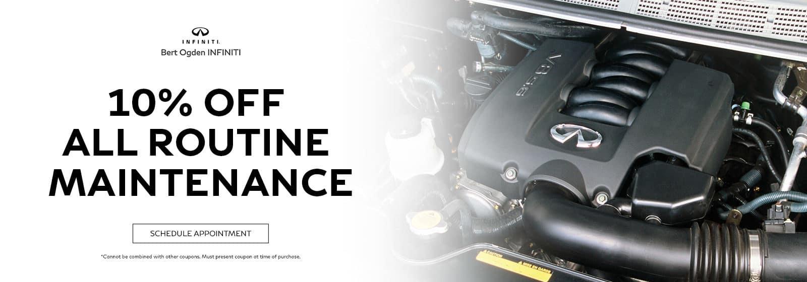 Get 10% Off All Routine Maintenance At Bert Ogden INFINITI   Edinburg, TX