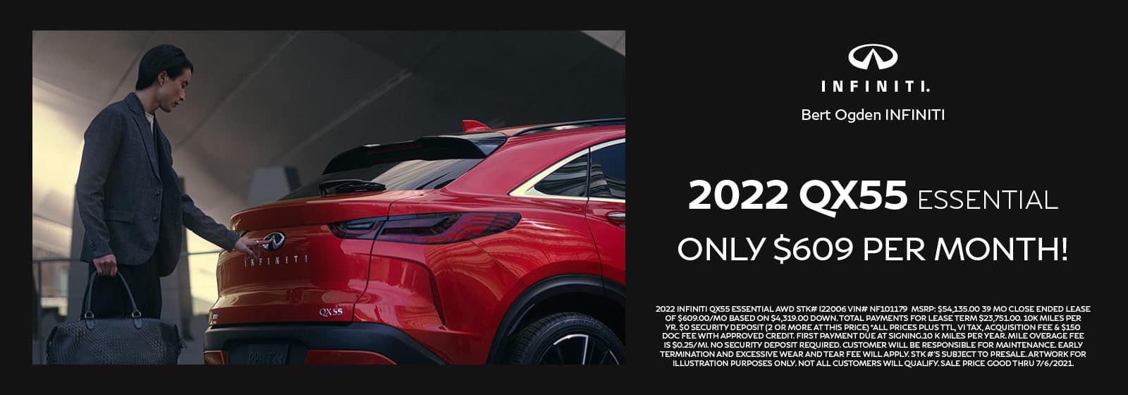 2022 INFINITI QX55 ESSENTIAL   Bert Ogden INFINITI   Edinburg, TX