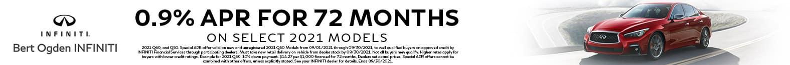 0.9% APR For 72 Months | Bert Ogden INFINITI | Edinburg, TX