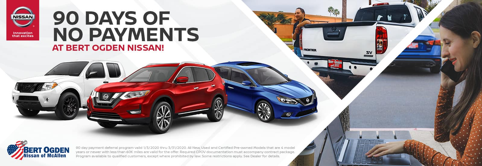 90 Days of No Payments at Bert Ogden Nissan in McAllen, TX