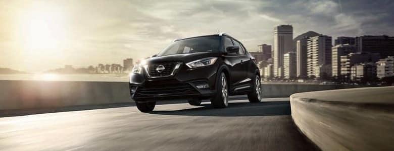 A black 2020 Nissan Kicks - Bert Ogden Nissan in McAllen, TX