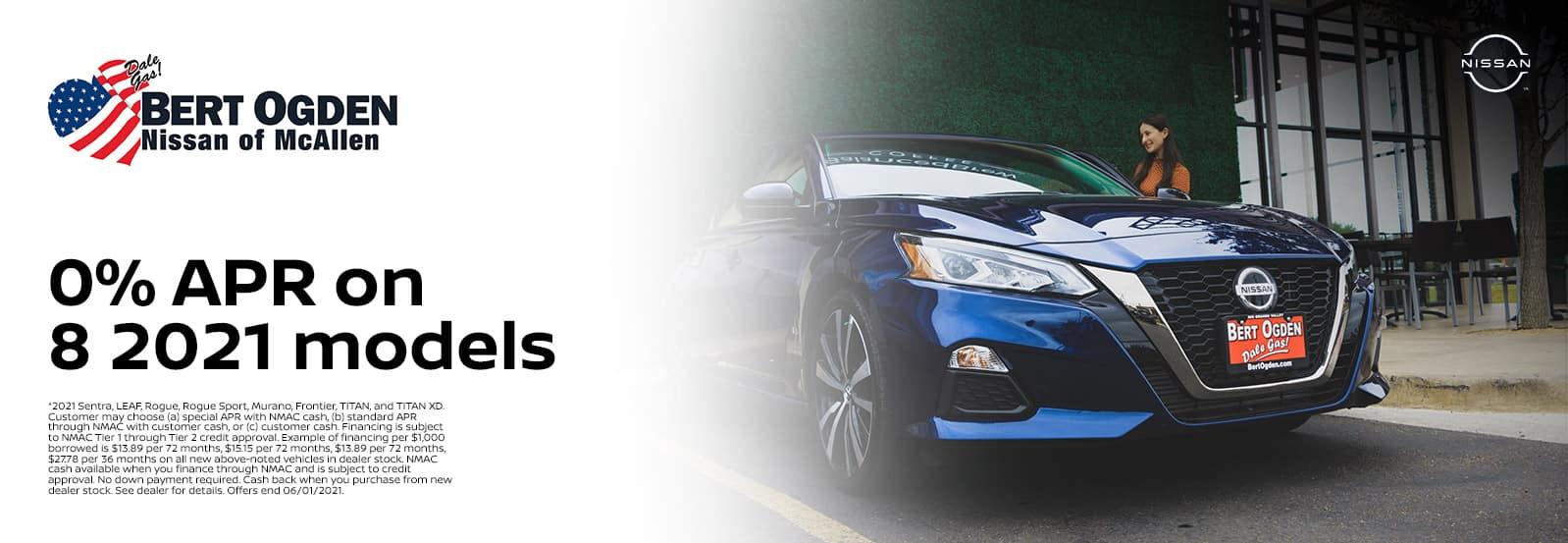 Get 0% APR For Select 2021 Models | Bert Ogden Nissan | McAllen, TX