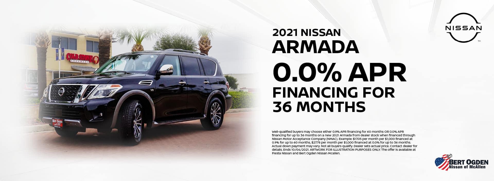 2021 Nissan Armada 0.0% APR | Bert Ogden Nissan | McAllen, TX