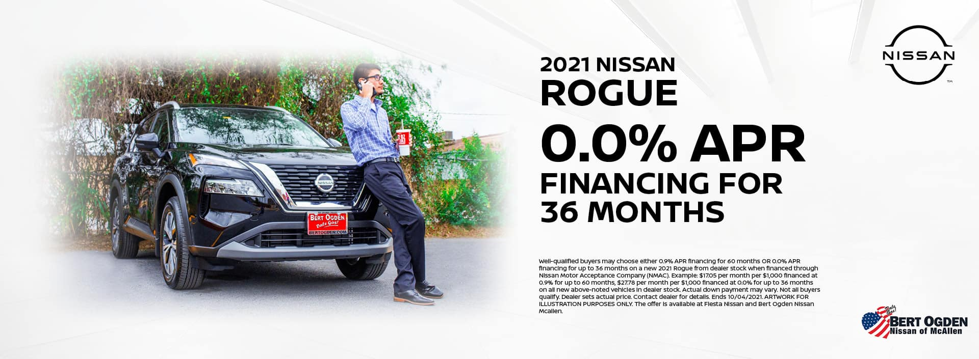 2021 Nissan Rogue 0.0% APR | Bert Ogden Nissan | McAllen, TX