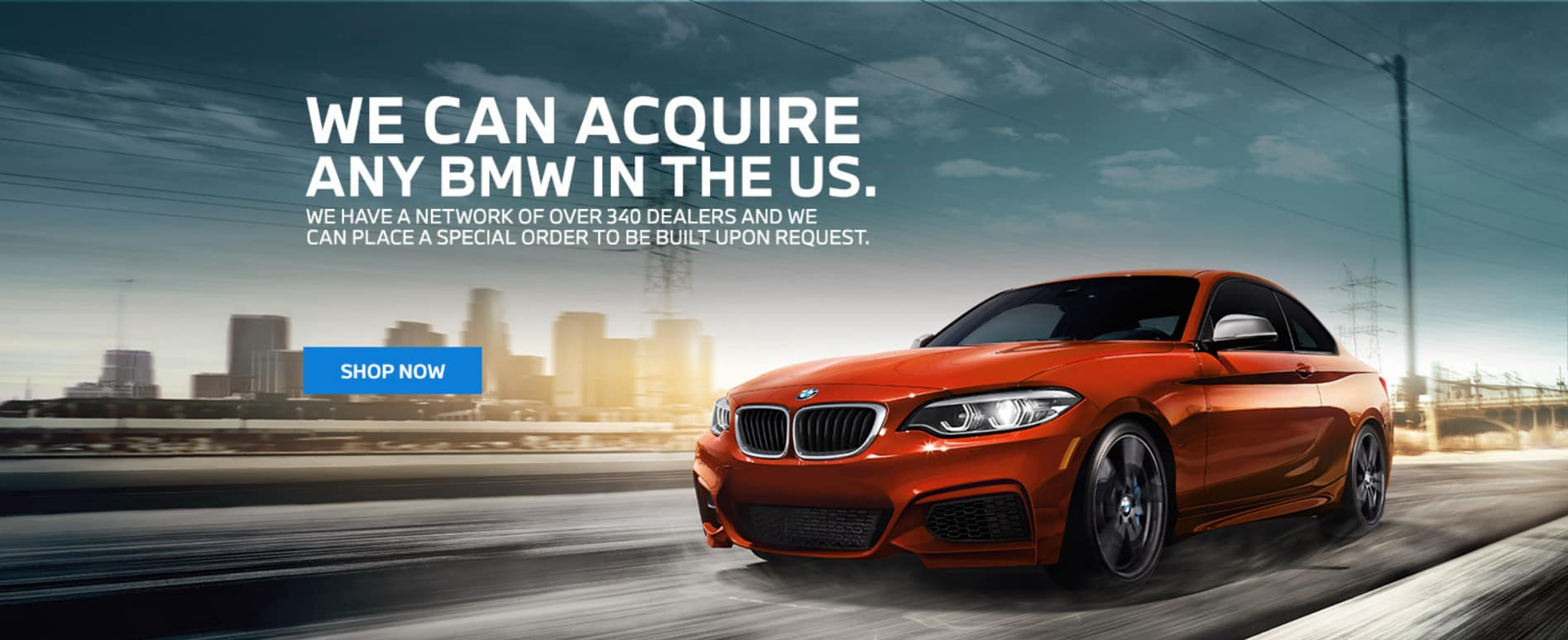 We can acquire any new BMW in the USA