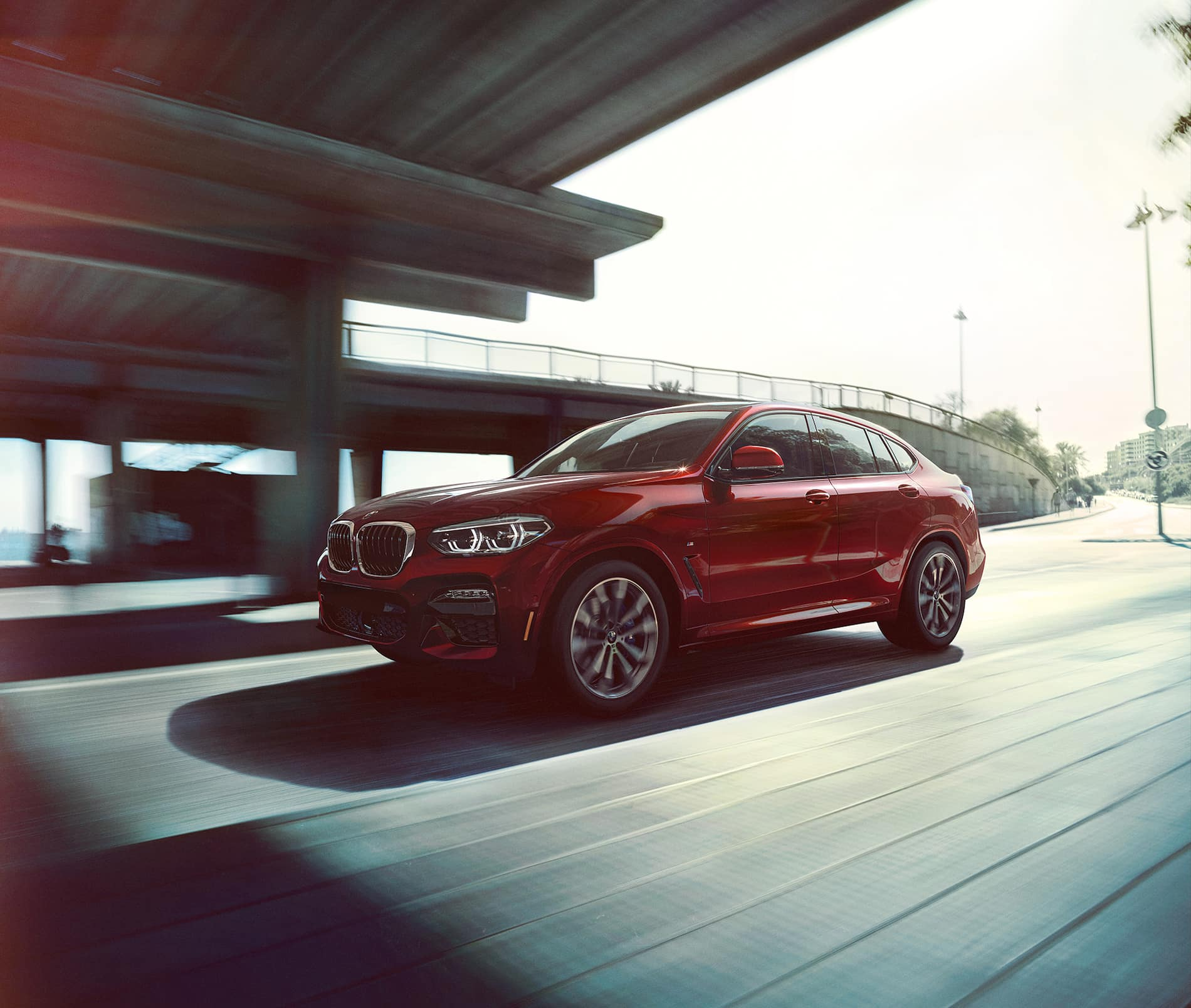 BMW X4 Side View Red
