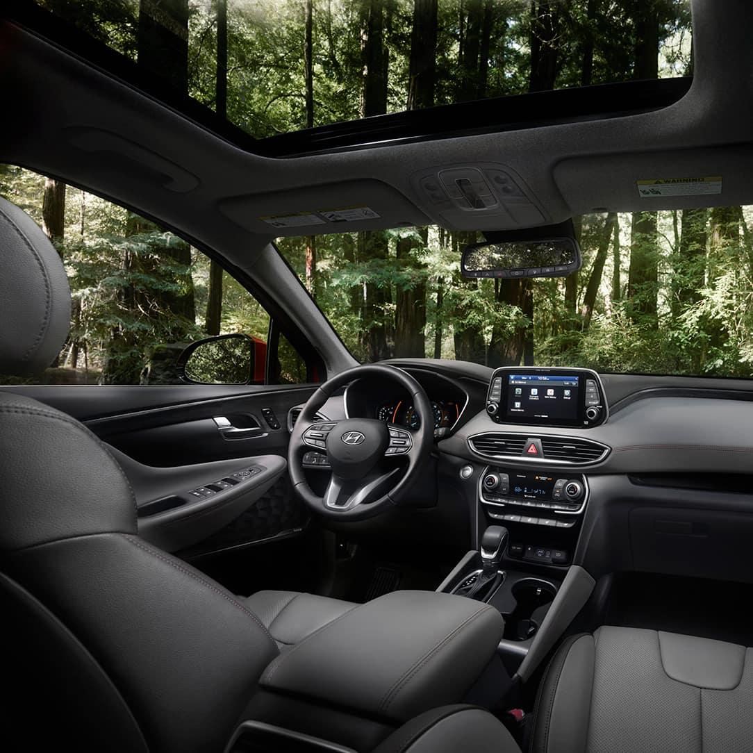 The 2020 Hyundai Santa Fe model features at Boch Hyundai of Norwood MA | MY20 SantaFe Interior