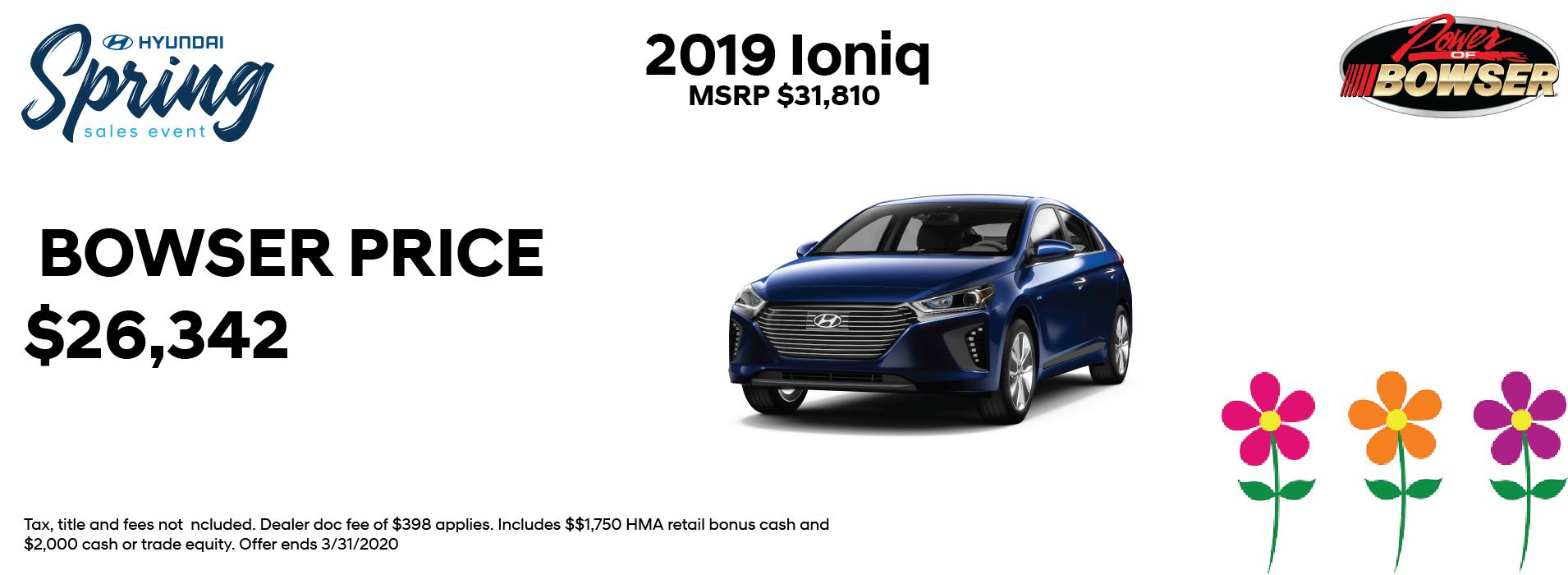 2019 Ioniq Special Offer