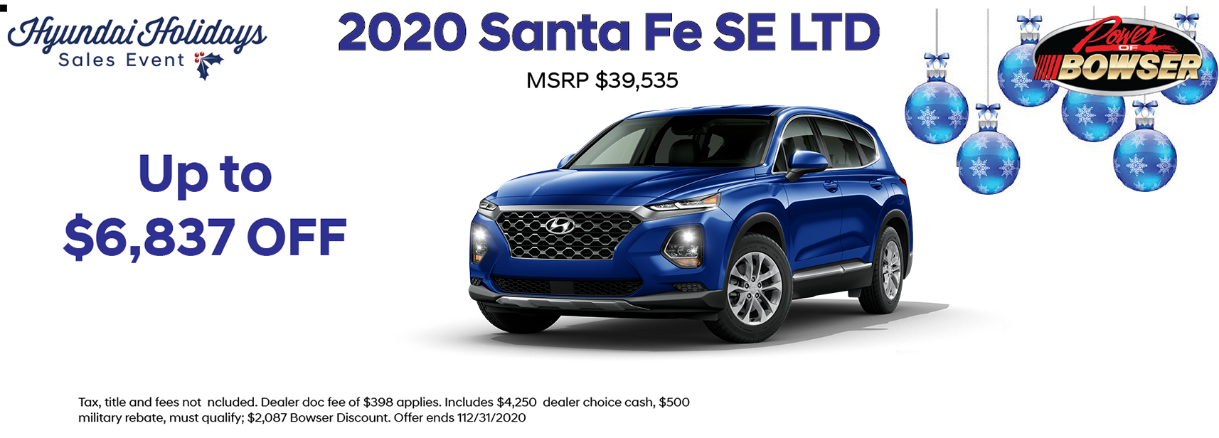 2020 Santa Fe SE Lease