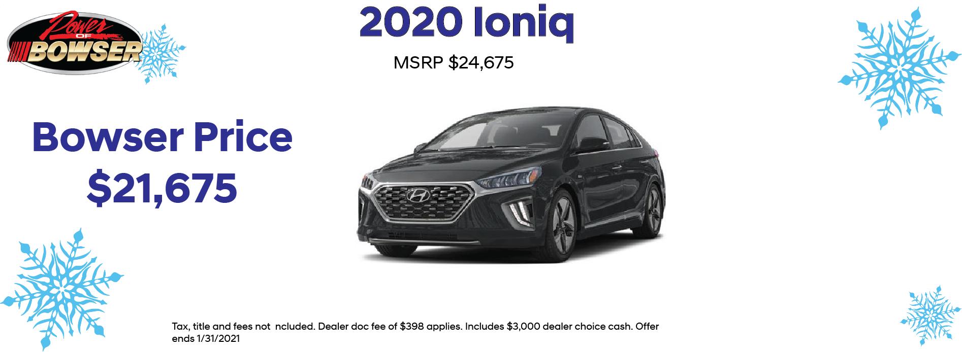 2020 Ioniq Special Offer