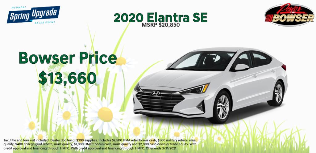2020 Elantra Special Offer